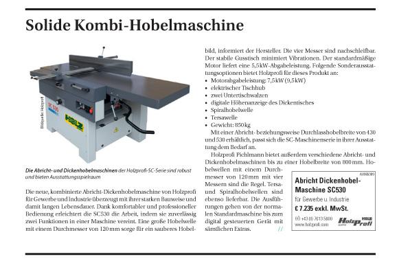 Solide Kombi-Hobelmaschine